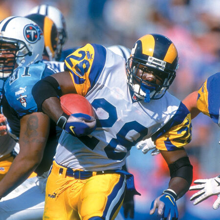 Pronósticos deportivos rotos:Los Rams de 1999. Una película grabada en la NFL.