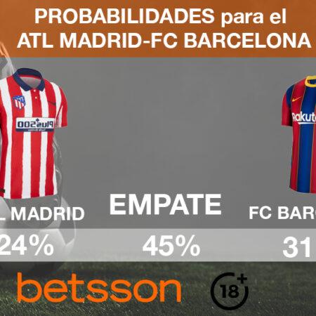Atlético de Madrid vs FC Barcelona: En las 2 mejores casas de apuestas deportivas