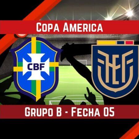 Brasil vs Ecuador (27 Jun) | Pronósticos para apostar en la Copa América