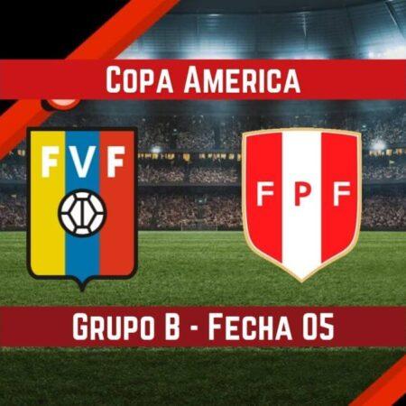 Venezuela vs Perú (27 Jun) | Pronósticos para apostar en la Copa América