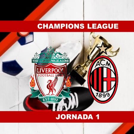 Pronósticos para Champions League   Apostar en el partido Liverpool vs Milán (15 Sept.)